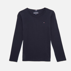 Tommy Hilfiger Girls' Basic Long Sleeve T-Shirt - Sky Captain
