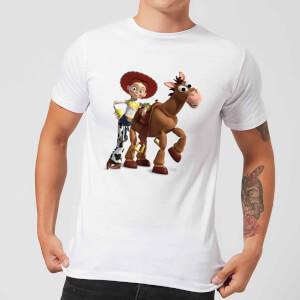 Toy Story 4 Jessie And Bullseye Men's T-Shirt - White