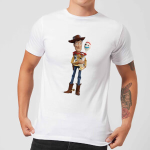 Toy Story 4 Woody And Forky Men's T-Shirt - White