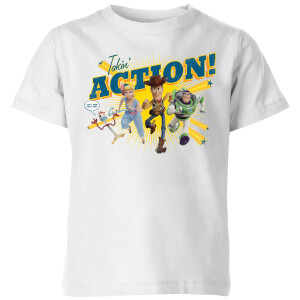 Toy Story 4 Takin Action Kids' T-Shirt - White