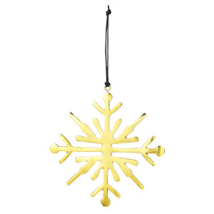 Broste Copenhagen Snowflake Christmas Decoration - Gold