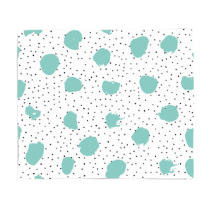 Green Abstract Spots Fleece Blanket