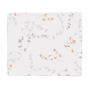 Delicate Leaves Fleece Blanket