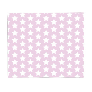 Pink Stars Fleece Blanket