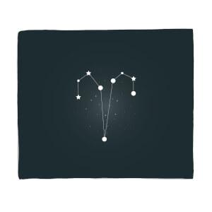 Aries Star Sign Fleece Blanket