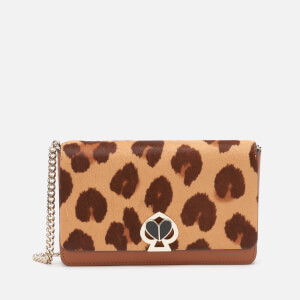 Kate Spade New York Women's Nicola Haircalf Twistlock Chain Wallet - Natural Multi