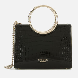 Kate Spade New York Women's Sam Croc Embossed Bracelet Mini Satchel - Black