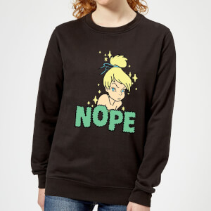 Disney Peter Pan Tinkerbell Nope Women's Sweatshirt - Black