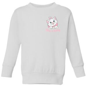 Disney Aristocats Marie I'm A Lady Kids' Sweatshirt - White
