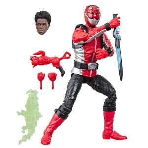 Statuetta del Ranger Rosso da Beast Morphers serie Power Rangers Lightning Collection, Hasbro
