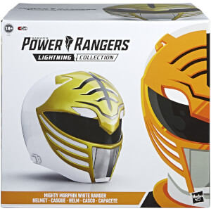 Replica dell'elmetto in scala 1:1 del Ranger Bianco da Mighty Morphin serie Power Rangers Lightning Collection, Hasbro