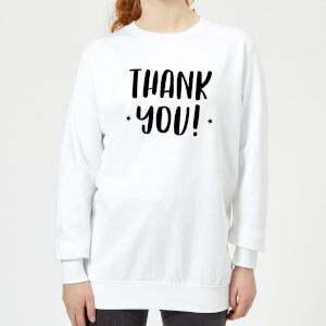 Thank You! Women's Sweatshirt - White