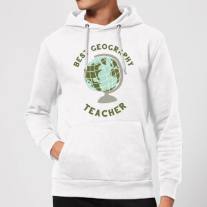 Best Geography Teacher Hoodie - White
