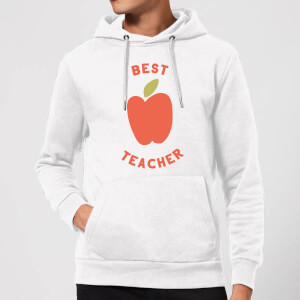 Best Teacher Apple Hoodie - White