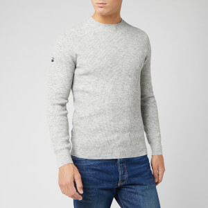 Superdry Men's Academy Crew Neck Jumper - Stone