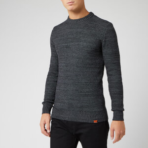Superdry Men's Keystone Crew Neck Jumper - Lead Grey Grit