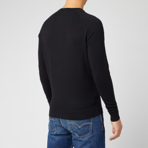 Superdry Men's Orange Label Cotton Crew Neck Jumper - Black