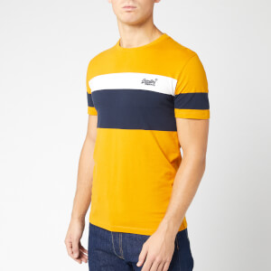 Superdry Men's Orange Label Chestband T-Shirt - Ochre Gold