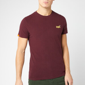 Superdry Men's Ol Vintage Embroidery T-Shirt - Buck Burgundy Marl