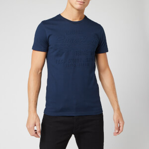 Superdry Men's Shirt Shop Embossed T-Shirt - Buck Blue Marl