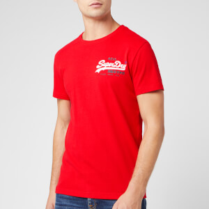 Superdry Men's Vintage Logo Racer T-Shirt - Rouge Red