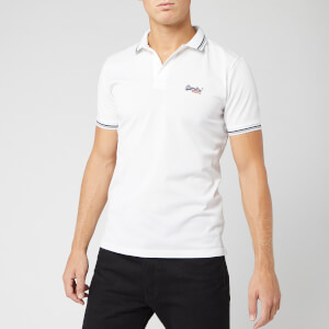 Superdry Men's Classic Lite Micro Sports Polo Shirt - Optic