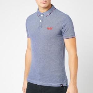 Superdry Men's Poolside Pique Polo Shirt - Royal Twist