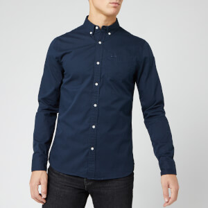 Superdry Men's Classic Twill Long Sleeve Shirt - Nordic Chrome Navy
