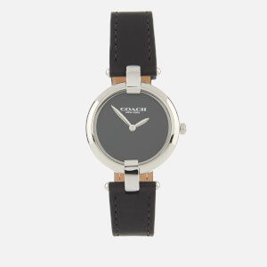 Coach Women's Chrystie Leather Strap Watch - Rou Black