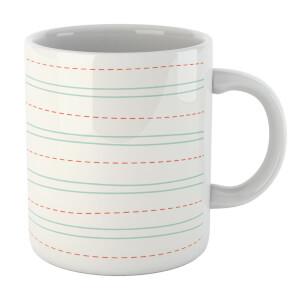 Lined Paper Mug