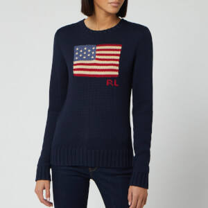 Polo Ralph Lauren Women's Long Sleeve Knit Jumper - Hunter Navy Multi