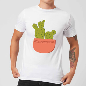 Two Potted Cacti Men's T-Shirt - White
