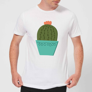 Cactus With Flower Men's T-Shirt - White