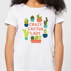 Crazy Cactus Lady Women's T-Shirt - White