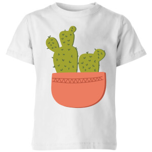 Two Potted Cacti Kids' T-Shirt - White