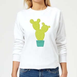 Tall Cactus Women's Sweatshirt - White