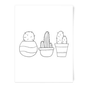 Hand Drawn Cacti Art Print