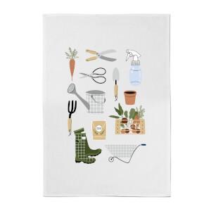 Garden Items Cotton Tea Towel