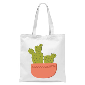 Two Potted Cacti Tote Bag - White