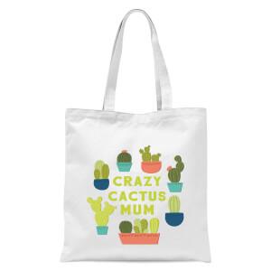 Crazy Cactus Mum Tote Bag - White
