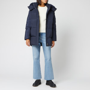 Woolrich Women's Aurora Puffy Coat - Melton Blue