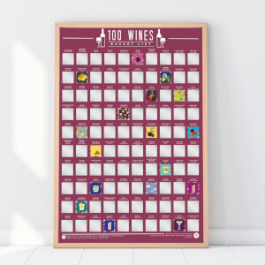 100 Wines Scratch Bucket List Poster
