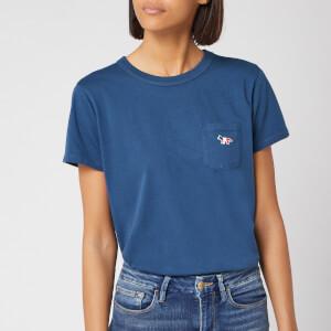 Maison Kitsuné Women's Tricolor Fax Patch T-Shirt - Petrol