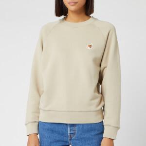 Maison Kitsuné Women's Fox Head Patch Sweatshirt - Beige