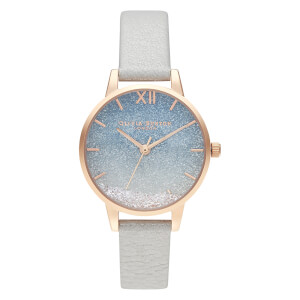 Olivia Burton Women's Wishing Wave Glitter Dial Watch - Shimmer Pearl/Rose Gold