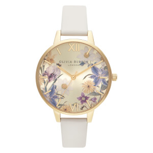 Olivia Burton Women's Enchanted Garden Vegan Watch - Nude/Gold