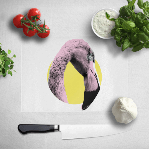 Flamingo With Circular Background Chopping Board