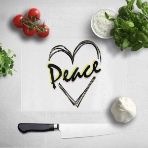 Peace Heart Chopping Board