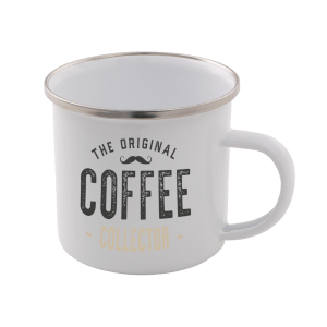 The Original Coffee Collector Enamel Mug – White