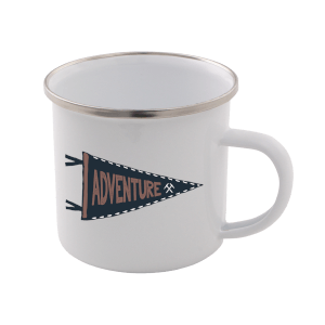Adventure Enamel Mug – White
